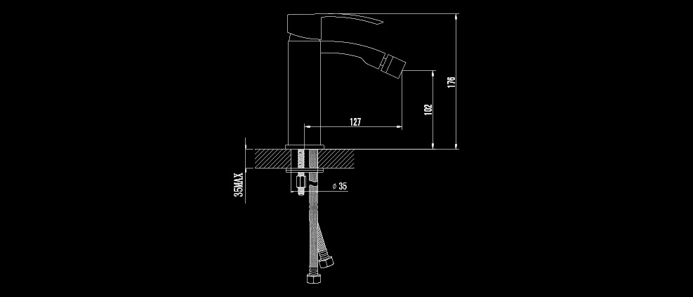 bidetarmatur bidet einhandmischer wasserhahn bidetmischer ca46160c ebay. Black Bedroom Furniture Sets. Home Design Ideas
